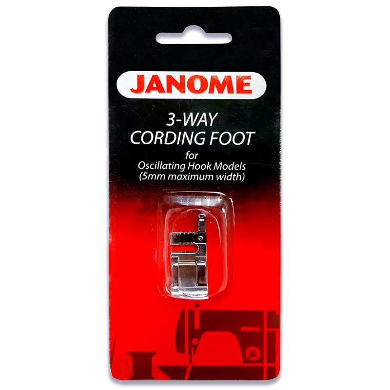 Janome 3 Way Cording Foot (for 5mm Models)