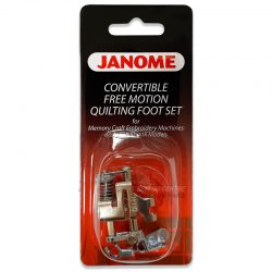 Janome Convertible Free Motion Quilting Foot Set (for High Shank Models)