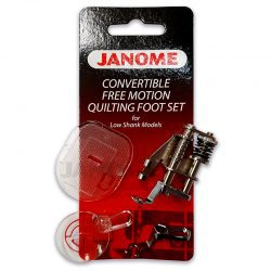 Janome Covertible Free Motion Quilting Foot Set for Low Shank Models