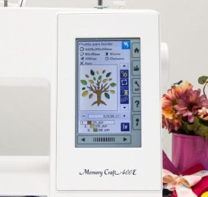 Janome MC400e's embroidery mode