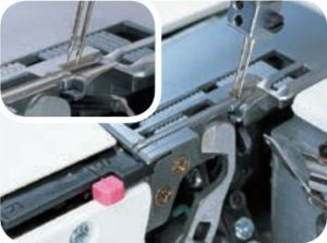 Janome 644D's Easy Change Rolled Hem Plate