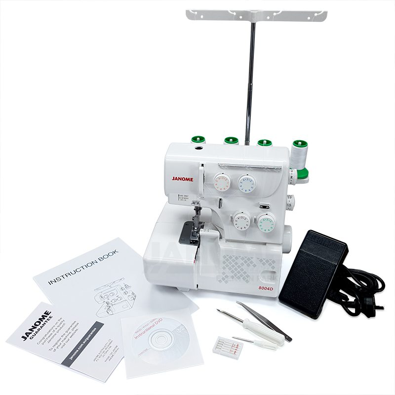 Janome 8004D unpacked from the box with all of the accessories