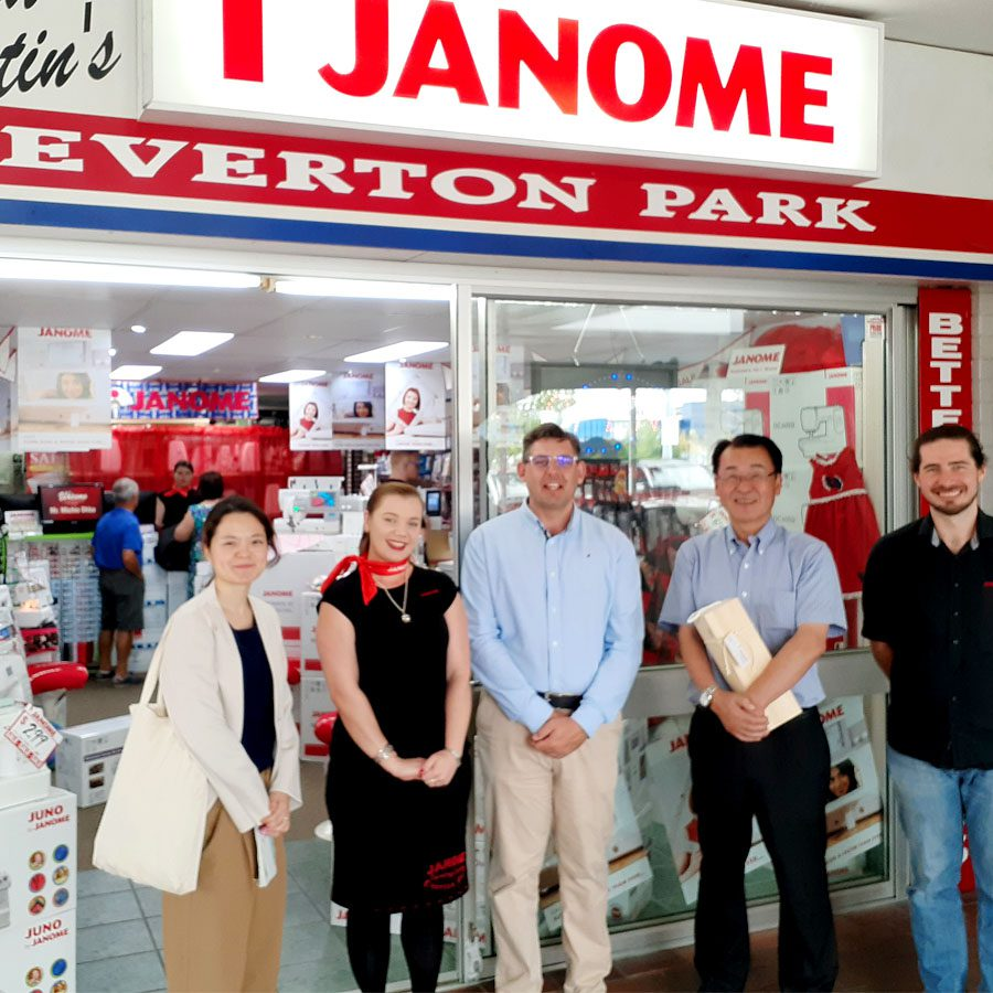 Our Team being honoured with a visit from the Janome International CEO