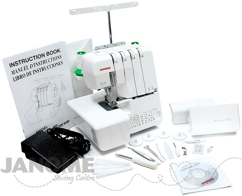 Janome My Lock 644D Unboxed