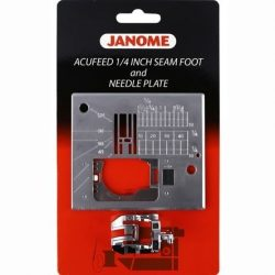 Janome 7mm Acufeed Quarter Inch Seam Foot and Needle Plate Set