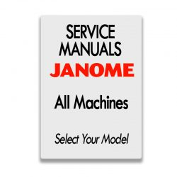 Janome Service Manuals for various Janome Sewing Machines