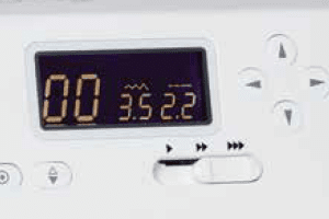 Janome DC2150 easy to use display and function keys