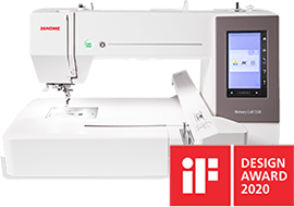 Janome MC550E is a winner of the IF Design Awards 2020