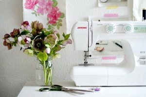 Janome Sewing Machine on a Table